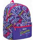 Mochila Escolar iStyle Multicolor Purple