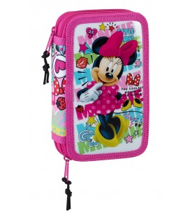Plumier Doble Pequeño Minnie Mouse Cool