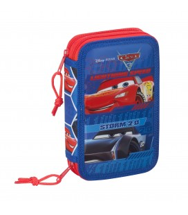 Plumier Doble Pequeño Cars Lightning Speed