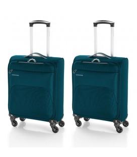 Juego 2 maletas cabina Gabol Zambia Azul petroleo