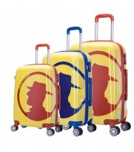 Set 3 Trolley 55-65-75 Coronel Tapiocca Bolonia Azul
