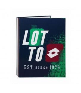 Carpeta 4 anillas lomo ancho Lotto