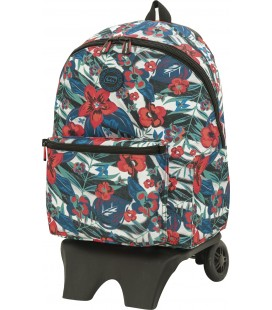 Mochila Teen Con Carro Escolar California Cebra
