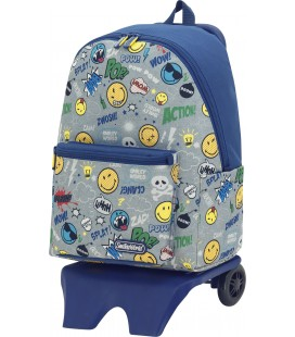 Mochila Teen Con Carro Escolar Smiley Pop