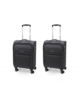 Set 2 Maleta Trolley Cabina Gabol Cloud Negro