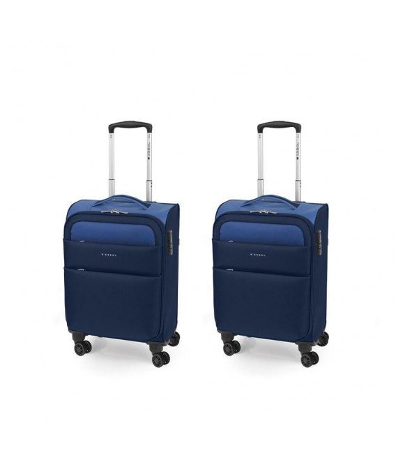 SET 2 MALETA TROLLEY CABINA GABOL CLOUD AZUL