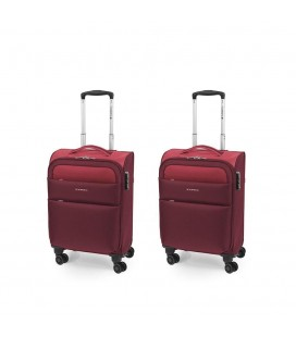 Set 2 Maleta Trolley Cabina Gabol Cloud Rojo