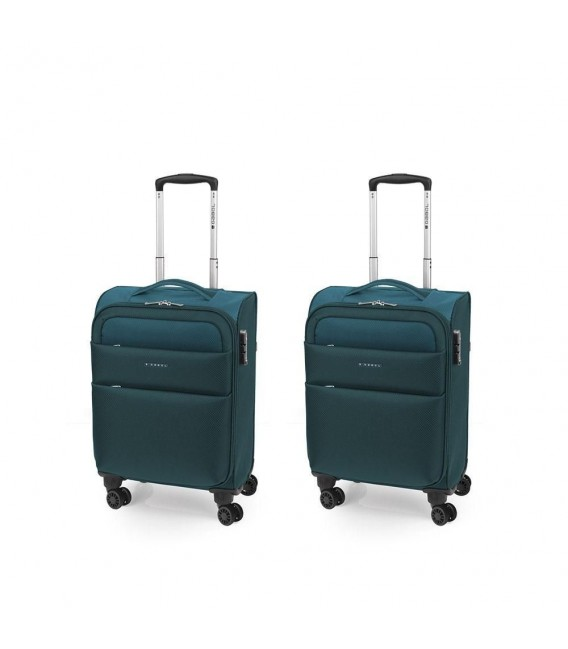 SET 2 MALETA TROLLEY CABINA GABOL CLOUD TURQUESA