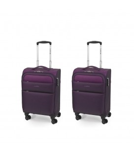 Set 2 Maleta Trolley Cabina Gabol Cloud Morado