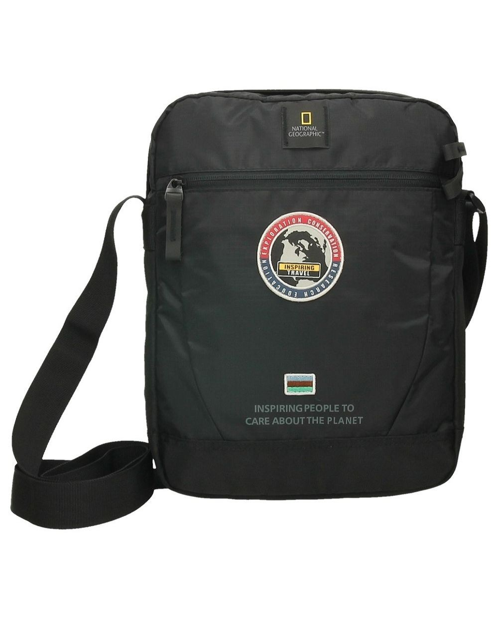 BOLSO BANDOLERA NATIONAL GEOGRAPHIC EXPLORER NEGRO