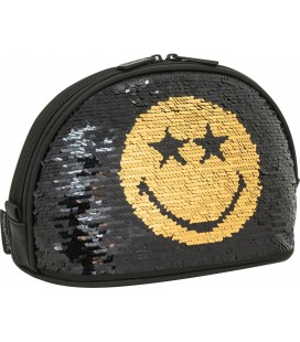 Neceser Moon Smiley Sequin Dorado