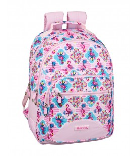 Mochila Escolar Adaptable Moos Flamingo Pink