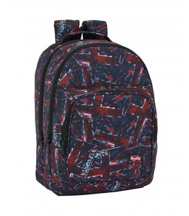 Mochila Escolar Adaptable Blackfit8 Flags
