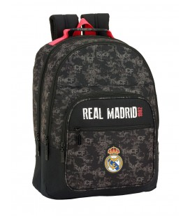 MOCHILA ESCOLAR ADAPTABLE REAL MADRID BLACK