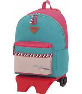Mochila Teen Con Carro Escolar Privata Nature