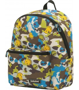 Mochila Teen Escolar Smiley Camu