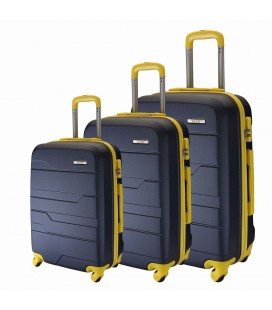 Set 3 Trolley 55-65- 75 Talento Rap Azul/Amarillo