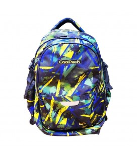 Mochila Escolar Adaptable Duo Abstract Yellow Collpack