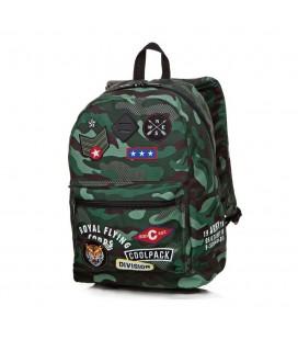 Mochila Escolar Cross Camo Green Badges Collpack