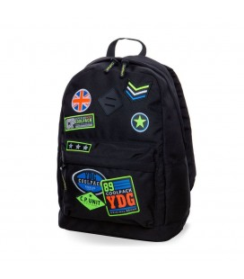 Mochila Escolar Cross Badges Black Collpack