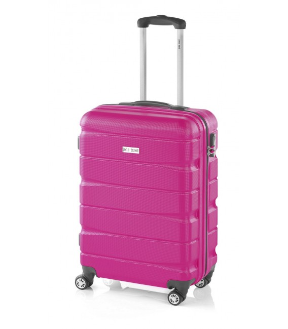 Maleta Cabina John Travel Double2 Fucsia