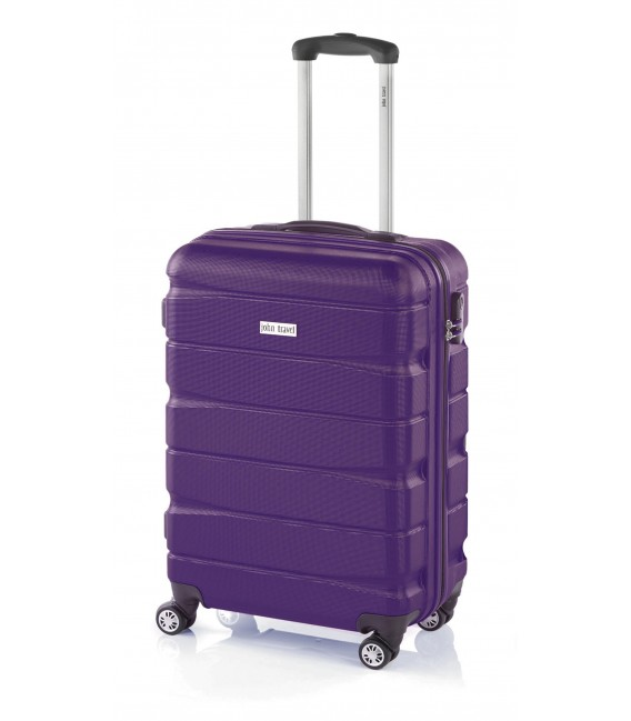 Maleta Cabina John Travel Double2 Lila