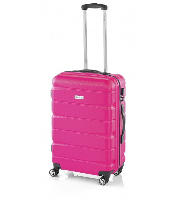 Maleta Mediana John Travel Double2 Fucsia