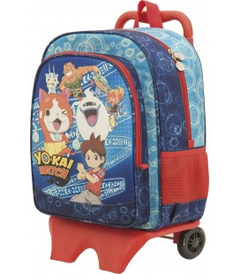 Mochila F5/AC C/Carro Escolar Yokai Watch Group