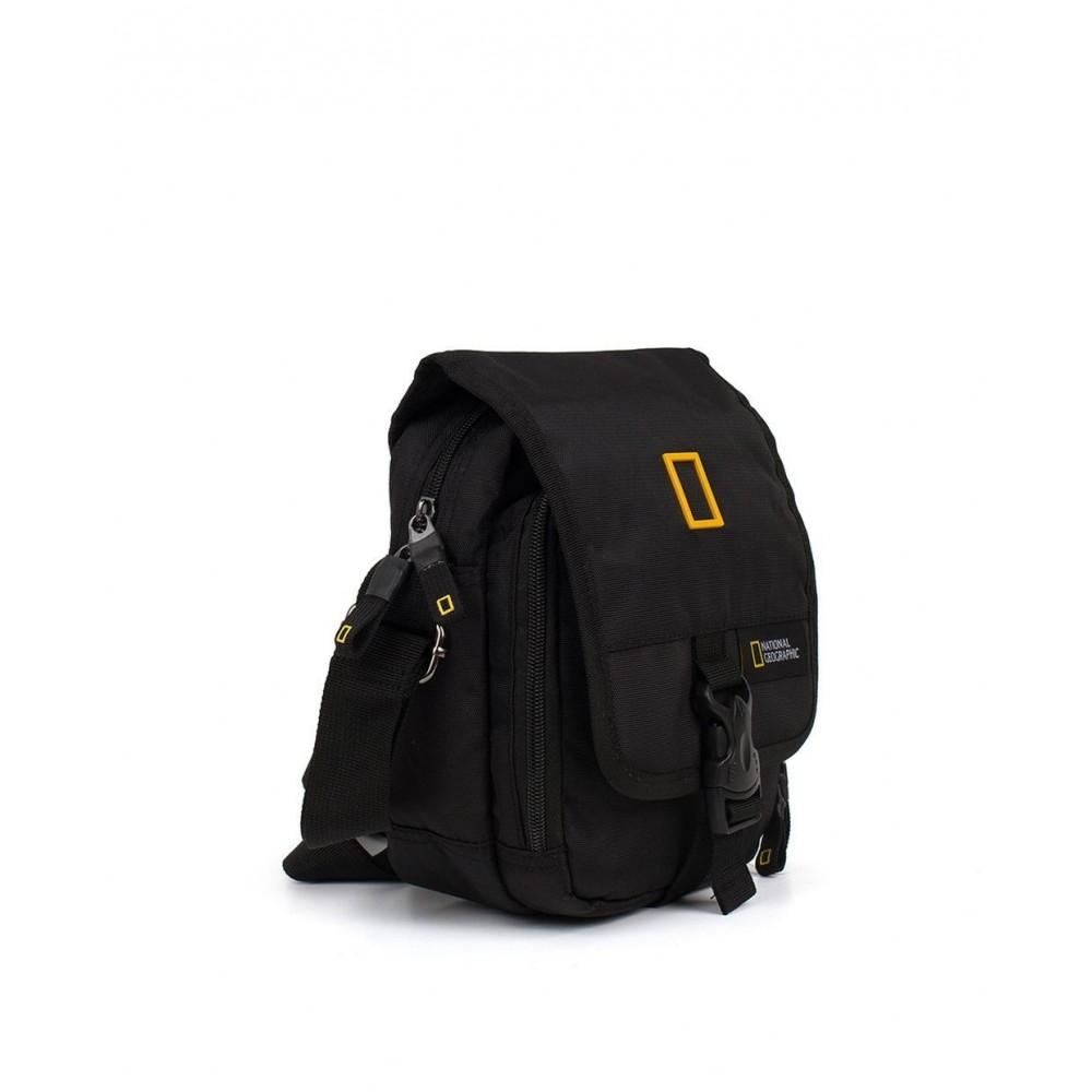 Bandolera de hombre National Geographic con dos compartimentos en color negro