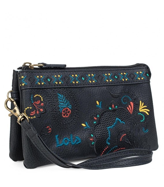 Monedero Triple Señora Redwood Lois Negro
