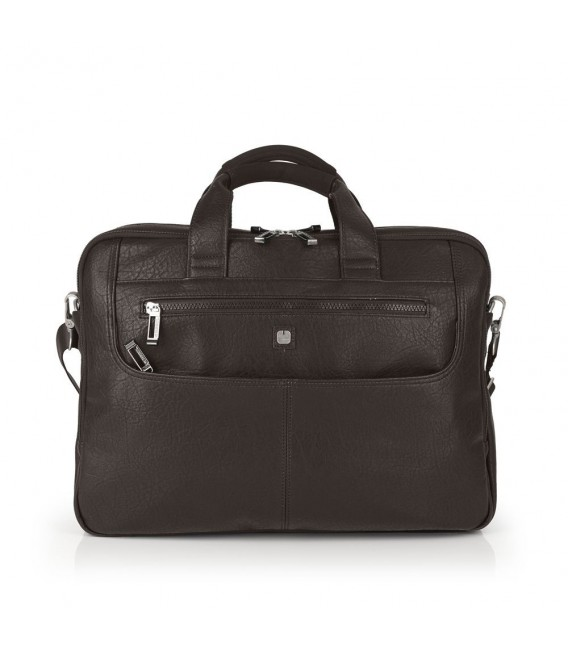 "Cartera Portatil 15,6"" Tres Compartimentos Gabol Report Chocolate"