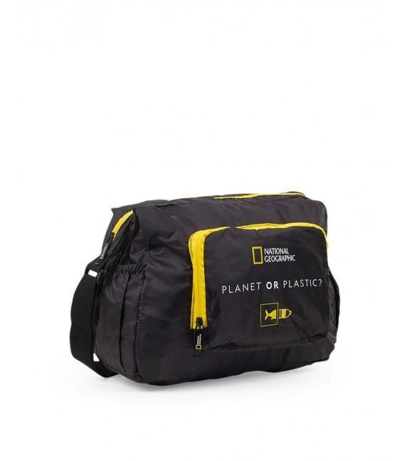 Bolso Plegable National Geographic Foldables Negro