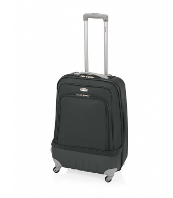 Maleta Mediana John Travel Land Negro