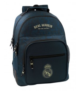 Mochila Escolar Adaptable Real Madrid Azul Marino
