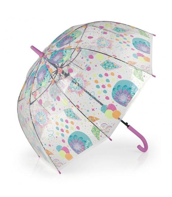 Paraguas Transparente Largo 56Cm 8 ribs Mimic Gabol