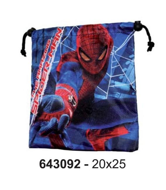 Saco portatodo/almuerzo spiderman