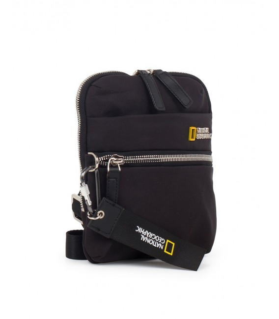 Bolso Bandolera Vertical National Geographic Research Negro
