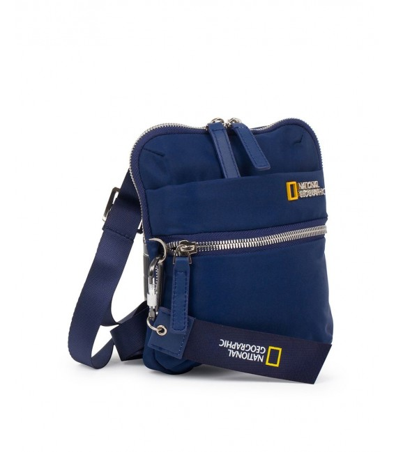 Bolso Bandolera Vertical National Geographic Research Azul