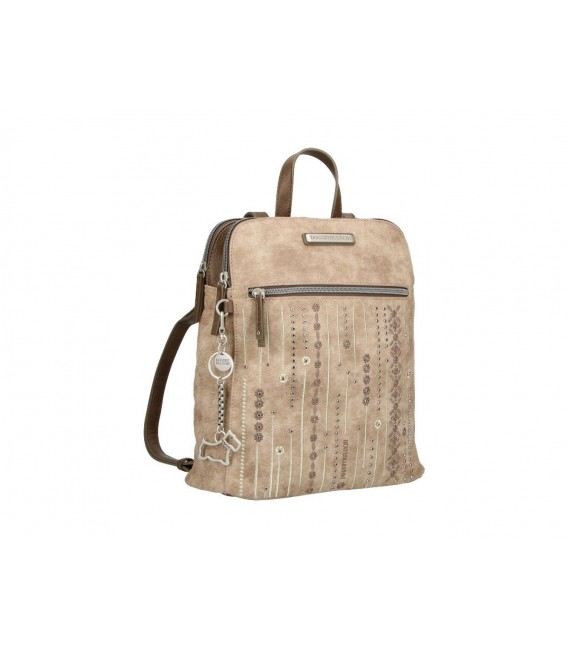 Mochila Paseo Mujer Dogs By Beluchi Taupe