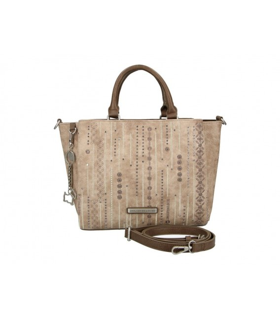 Bolso Doble Asa Mujer Dogs By Beluchi Taupe
