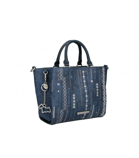 Bolso Doble Asa Mujer Dogs By Beluchi Azul