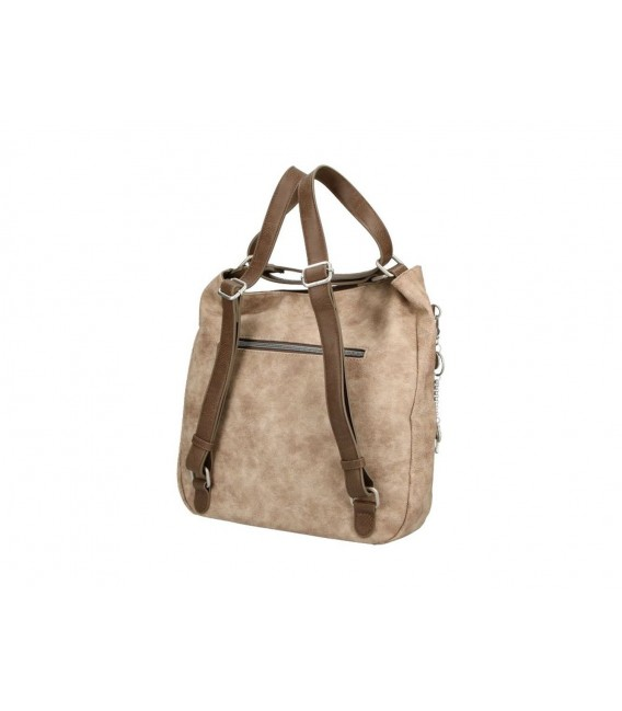 Bolso Mochila Paseo Mujer Dogs By Beluchi Taupe