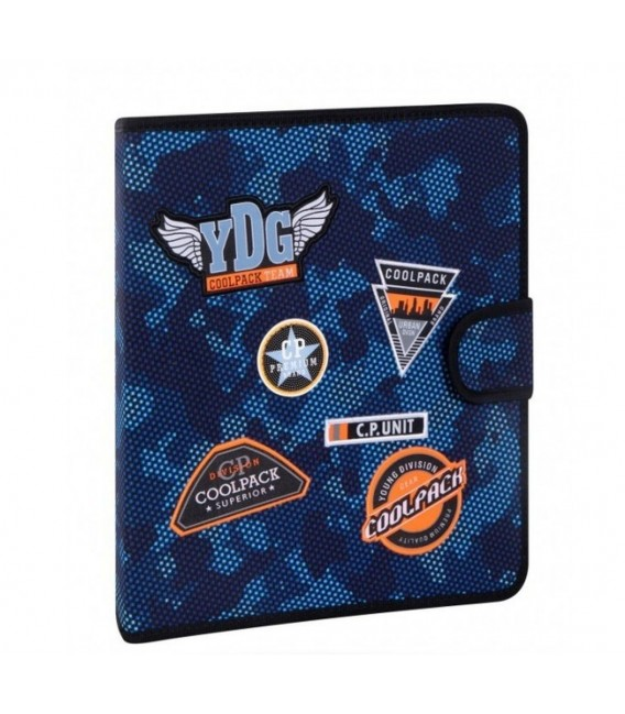 Carpeta De Tela Mate Parches Camo Blue Coolpack
