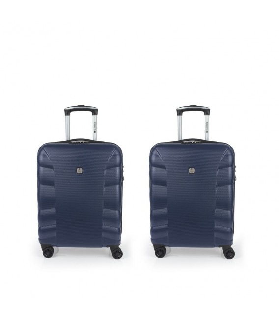 Set 2 Maletas Cabina 4R Gabol London Azul