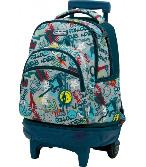 Mochila Carro Compact Desmontable Smiley Rebel