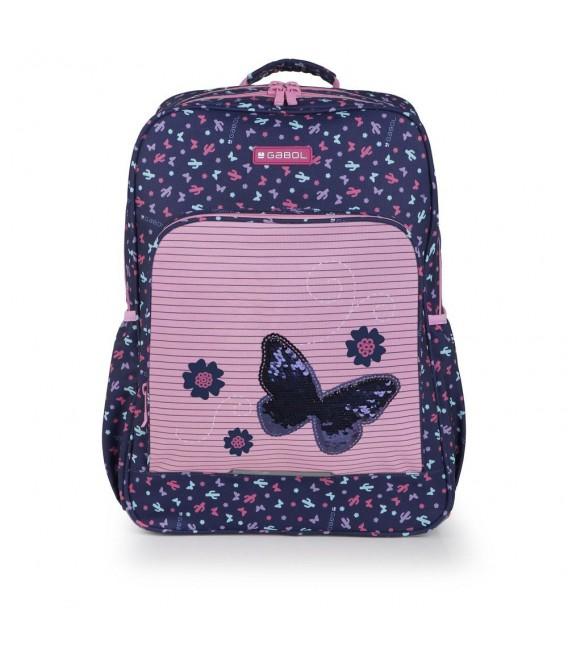 Mochila Escolar Adaptable Butterfly Gabol