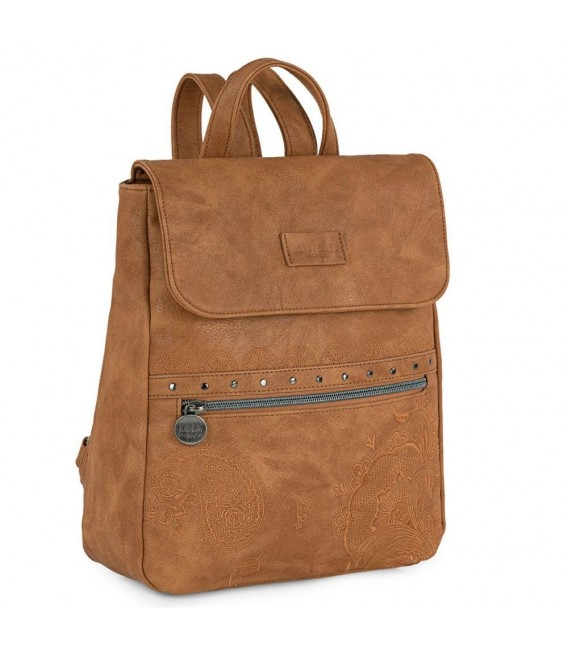 Mochila Mujer Casual Lois Redwood Camel