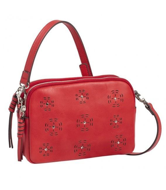 Bolso Cruzado Doble Mujer Matties Mona Rojo