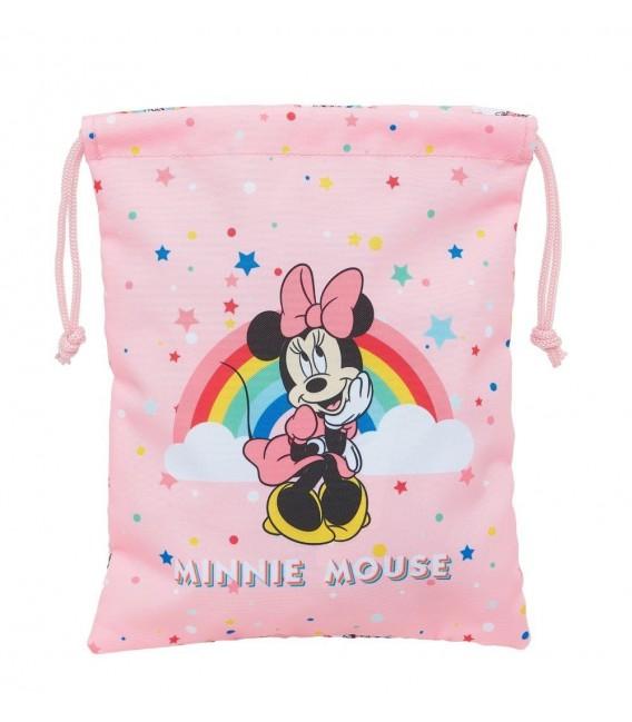 Saco Plano Minnie Mouse Rainbow