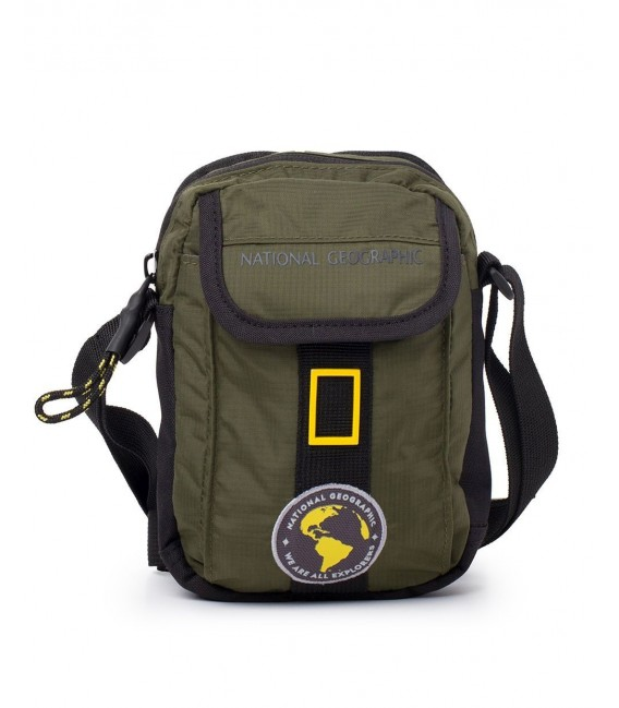 Bolso Cruzado Hombre National Geographic New Explorer Kaki